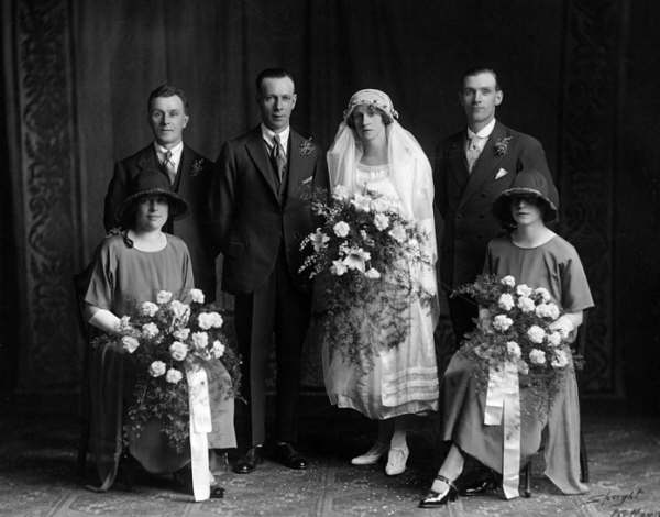 Wedding Photograph, probably a relation of John Thomas Pask of Newark
