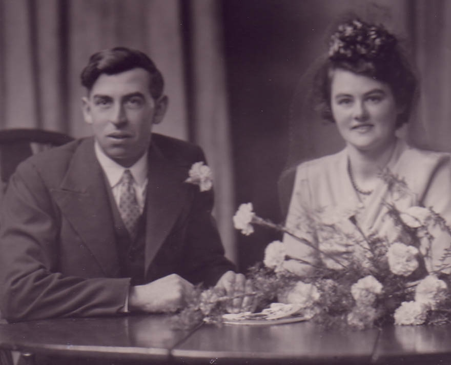 Wedding of Frank & Laura (Nene) Irene Morley née Pask 1945